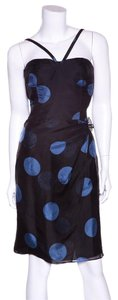 Armani Collezioni short dress Black & Blue on Tradesy