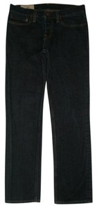 Hollister 5 Pocket Style Button Fly Straight Leg Jeans-Dark Rinse
