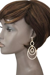 Other Women Fashion Earrings Set Gold Metal Rhinestones Classic Jewelry