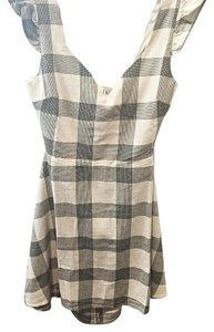 Urban Outfitters short dress Grey and white on Tradesy