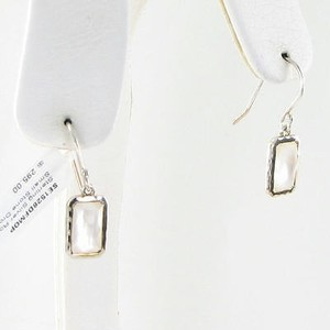 Ippolita Ippolita Rock Candy Earrings Rect Mini-drop Mother Of Pearl Quartz 925