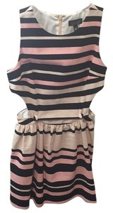 Topshop short dress Blush, pink, and black stripes on Tradesy