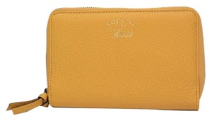 Gucci Gucci Swing Leather Zip Around Wallet 354497, Yellow