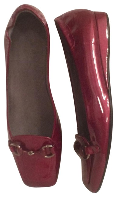 Item - Red Wedge Patent Leather Flats Size US 6 Regular (M, B)