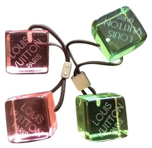 Louis Vuitton Louis Vuitton Hair Cubes (2 pair) Pink and Green