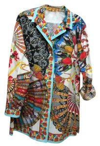 Dolce&Gabbana Button Down Shirt Multi-color on a white background