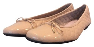 Paul Mayer Quilted Beige Tan Flats