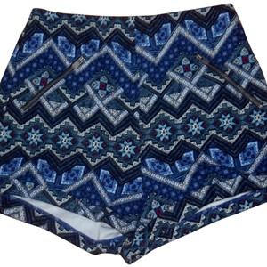 Hollister Mini/Short Shorts Navy Blue Pattern