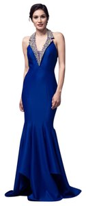 Bicici & Coty Halter Neck Sleeveless Mermaid Backless Beading Dress