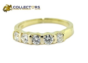 Tiffany & Co. Tiffany & Co 18k Yellow Gold .80ctw Diamond Shared Setting Wedding Band Ring Sz