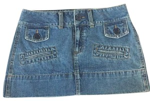 American Eagle Outfitters Mini Skirt Denim Blue