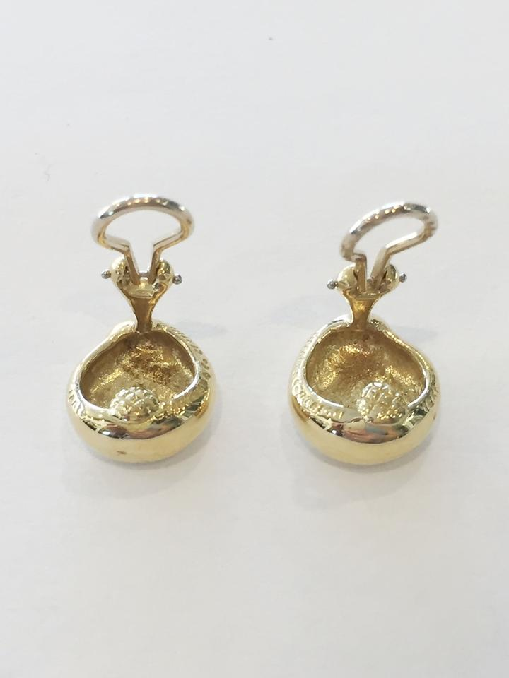 175257eed Gold Vintage Elsa Peretti Kidney Bean Nugget Clip On In 18k Yellow Earrings  - Tradesy