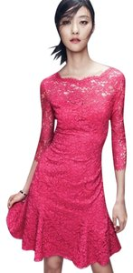 Eliza J Lace Flair Boatneck Dress