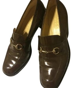 Gucci Womens Horsebit Loafer Brown Flats