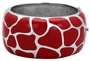 Animal Print Stainless Steel Epoxy Bangle Bracelet