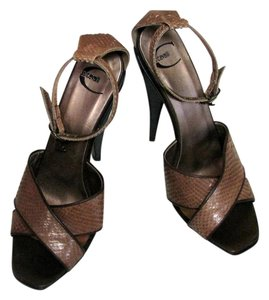 Just Cavalli Bronze Platforms