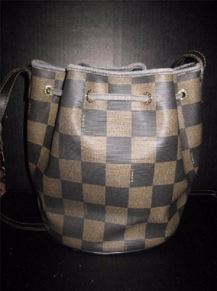 6240010cd6ff Fendi Vintage Purses Designer Purses Checkerboard Print Canvas ...