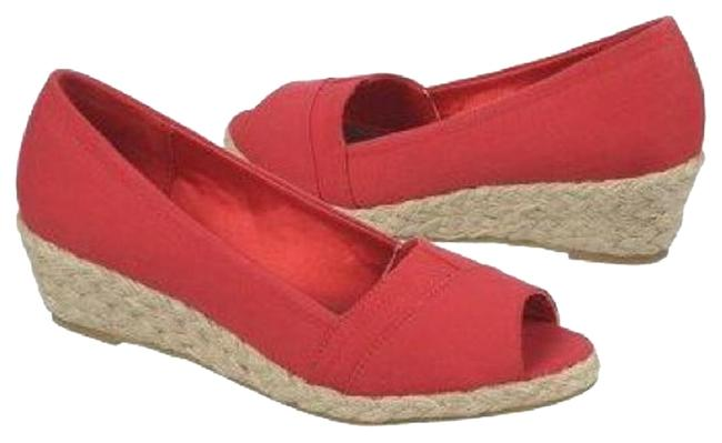 Item - Red Wedges Size US 6.5 Wide (C, D)