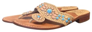 Jack Rogers Turquoise Tan Sandals