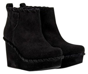 Pedro Garcia Suede Wedge Ankle Black Boots