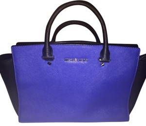 Michael Kors Satchel in Black and Blue