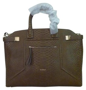 Furla Satchel in Taupe Brown