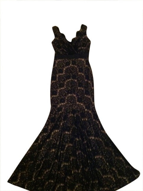 Preload https://img-static.tradesy.com/item/1788165/cache-black-and-nude-long-cocktail-dress-size-2-xs-0-0-650-650.jpg
