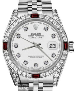 Rolex Rolex 36mm Datejust White Color Dial with Ruby & Diamond Bezel Accent RRT Watch