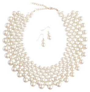 PEARL BIB NECKLACE SET