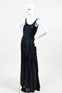 Black Maxi Dress by Marni Belted Empire