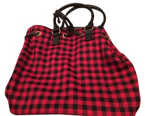 Talbots Tote in Red/Black
