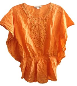 Jennifer & Grace Boho Bohemian Festival Beach Top Melon Orange