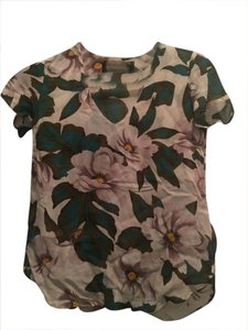 Reformation V-neck Sheer Top Floral