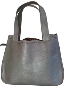 Furla Hand Tote Satchel in Silver Leather