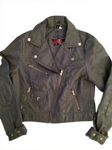 Divided by H&M Grey/pale blue Leather Jacket