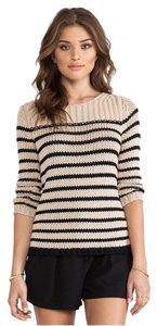 360 Sweater Striped Neutral Boat-neck Sweater
