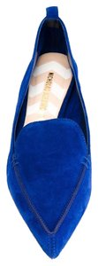 Nicholas Kirkwood Suede Loafers Pointed Toe Blue Flats