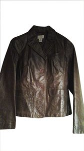 Ann Taylor brown Leather Jacket