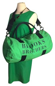 Brooks Brothers Green/Navy Travel Bag