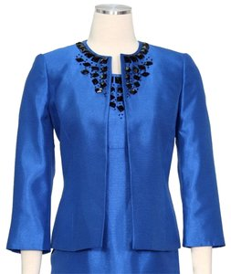 Kasper Kasper Separates New Electric Blue Bead-Trim Shantung Jacket
