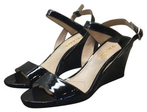 Prada Black patent Wedges
