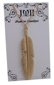 Other Goldtone Feather Pendant 2.5in w Free Shipping