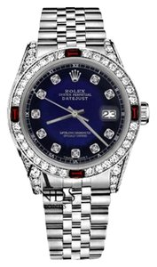 Rolex Women's Rolex 31mm Datejust BlueVignette Dial with Ruby & Diamond Accent RTWatch