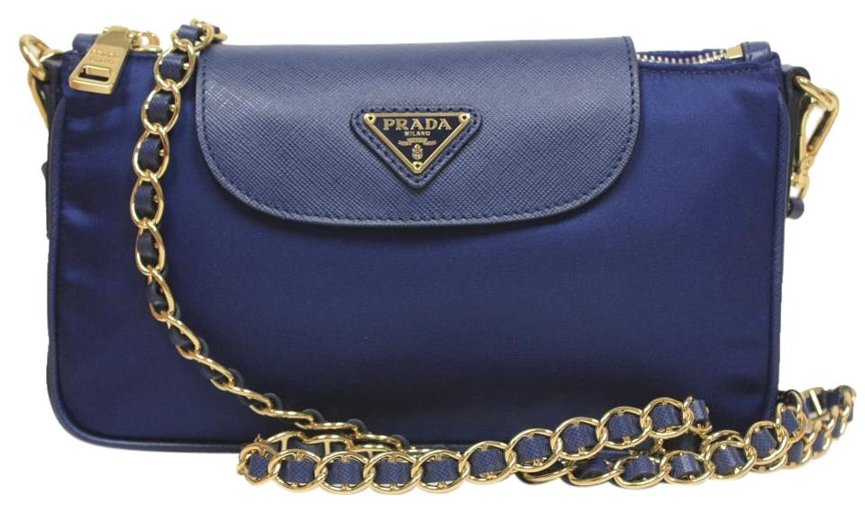 prada tessuto leather-trimmed crossbody bag