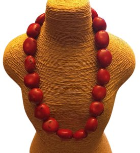 Red coral necklace. Wilma Flintstone style! I have a matching bracelet too!