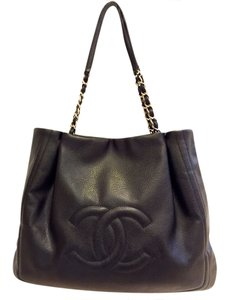 Chanel Limited Edition Leather Tote in Black