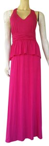 Pink Maxi Dress by J. Taylor Maxi Hot Stretch Peplum