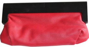 Melie Bianco Leather Red Clutch