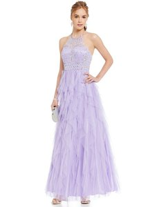 Masquerade Masquerade Purple Full Length Sleeveless Ball Dress Dress