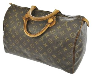 Louis Vuitton Monogram Boston Speedy Satchel in Brown